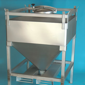 Custom-made container for bulk material