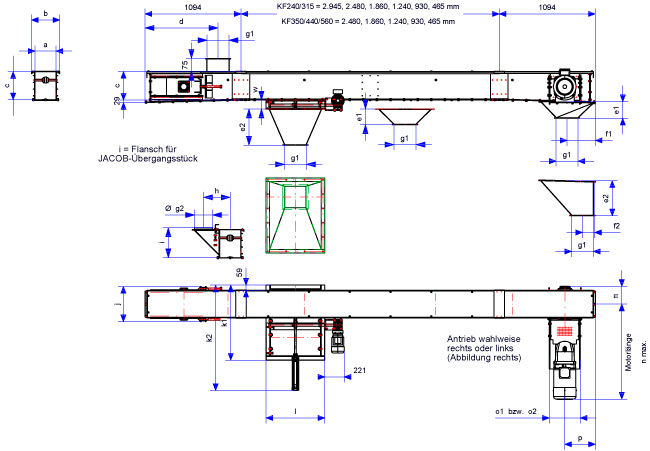 Chain Conveyor Drawing Dimension drawing for chain conveyor / redler ...